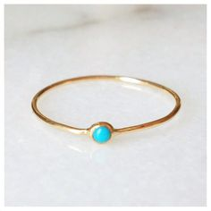 Turquoise Pip Ring  14k by ClaireKinder on Etsy, $185.00