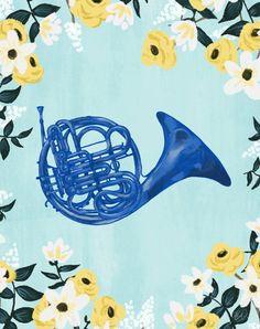 How I met your mother Blue French Horn how I met by HommeSurLaLune