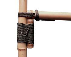 Bamboo Lashing Techniques — Guadua Bamboo Bamboo Art, Faux Bamboo, Bamboo Garden Fences, Bamboo Furniture, Cheap Furniture, Furniture Nyc, Street Furniture, Bamboo Ladders, Bamboo House Design