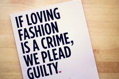 We love fashion so much, it's criminal. #PQOTD