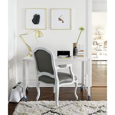 stick around white/grey arm chair  | CB2