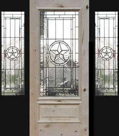 Awesome Texas Star Leaded Glass Entry