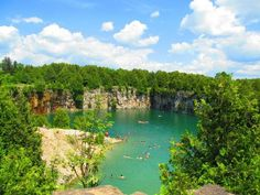 Elora Quarry in Elora, Ontario Canada Cool Places To Visit, Places To Travel, Places Around The World, Around The Worlds, Canadian Travel, Destin Beach, Yearning, Weekend Trips, Travel Goals