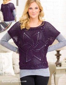 Pullover crochet pattern