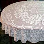 Dresden Oval Tablecloth Pattern in Filet Crochet