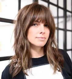 Messy Medium Hairstyle With Bangs