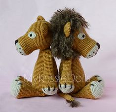Lisa & Leo Lion < Crochet pattern by Kristel Droog / RAV