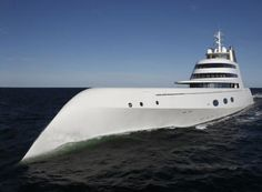 Philippe Starck designed this yacht for the russian billionaire Andrey Melnichenko. He offered this yacht to his wife and son