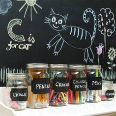 """A self-adhesive chalkboard that comes in the form of a 18"""" x 6"""" roll. Perfect for labelling stuff, leaving messages, creating art and more. http://www.walletburn.com/Chalkboard-In-A-Roll_1001.html  $7 #crafts"""