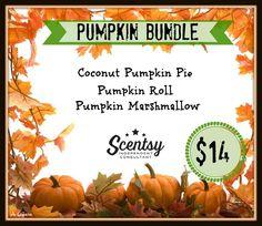 Pumpkin Bundle - 3-pack for $14. Order at www.smellarific.com. Flyer by Angela O'Hare