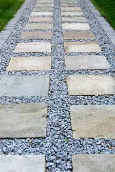 Sandstone & Aggregate Path: modern Garden by Earth Designs