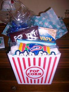 S'mores Gift Basket (spray paint bucket? chalkboard paint?)