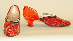 Shoes  Hellstern and Sons  (French)    Date:      1921  Culture:      French  Medium:      silk, metal, leather