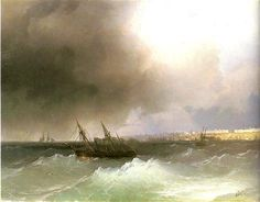 View of Odessa from the sea - Ivan Aivazovsky - Completion Date: 1865