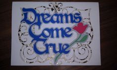 cricut ornamental iron works 2 and dreams come true cartridges. for my loverly friends on their wedding day :)