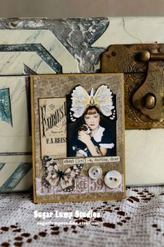 "I'm sharing a few ""photo booth"" ATC's I made recently. I love old pictures of any kind, but some of the photo booth photos from long ago are just too beautiful. I have a few of my own parent's that I hold very dear. I think the little boy is my favorite. Happy Tuesday!"