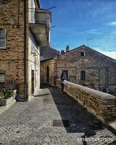 """#Monterubbiano - #Fermo by @francecif """"Via Garibaldi""""  Buongiorno a tutti da Monterubbiano! L'avete mai visitato?"""