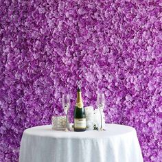 Flower Wall Backdrop, Wall Backdrops, Flower Wall Decor, Wedding Backdrops, Flower Room, Hydrangea Flower, Silk Flowers, Purple Flowers, Silk Hydrangea