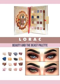 LORAC Beauty and the Beast Eyeshadow Palette 16 swatches Found in eyeshadow Works with Hq (Pictures took with Hq mod) Hope you lik...