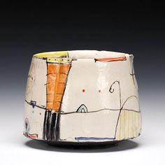 Schaller Gallery : Artist : Bede Clarke : Bowl click now for more info. Pottery Bowls, Ceramic Pottery, Pottery Art, Slab Pottery, Pottery Painting, Ceramic Painting, Hand Built Pottery, Wheel Thrown Pottery, Pottery Designs