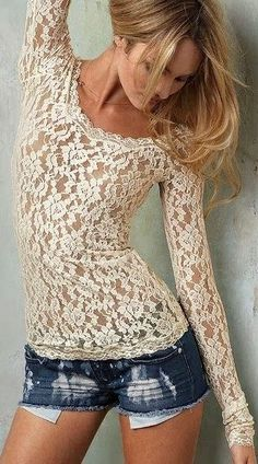 Beautiful lace top.