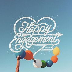 Happy engagement by @stvmink --/- Daily typography love on typostrate.com and on instagram @typostrate --\- #typographyinspired #typostrate #typostrateblog #typostration #typography #typografie #lettering #handwritten #handlettering #handschrift #handbrush #handtype