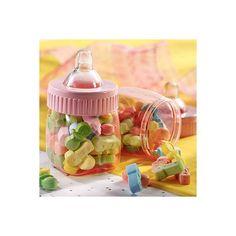 Pink Fillable Bottles Baby Shower Favors 6ct