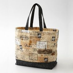 Canvas Tote Bag For a durable and stylish tote, pair cotton canvas with a classic black print.