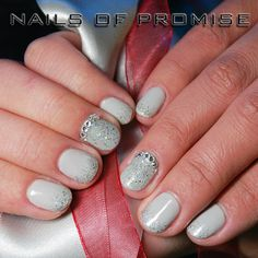 We used CND Shellac & Gelish Waterfield for this design. Christmas is coming get your nails done at Nails Of Promise. #nailsofpromise #nailsgantshill