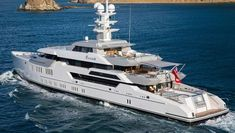 66 metre Ester III has been spotted moored in Gibraltar. Launched by @luerssenyachts in 2014 she features an exterior by @espen.oeino and interior design by Reymond Langton. She's currently listed for sale with @FraserYachts. #lurssen #fraseryachts #superyacht #yachtspotter #luxuryyacht