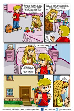 Page # 4. I really can't.  Página 4. No puedo, en serio. http://www.gocomics.com/onion-and-pea/2016/10/10