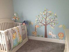 Jungle theme nursery #baby #room #lion #zebra #giraffe #cute