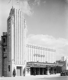 As these photographs show, the once-majestic art deco Odeon cinemas have become uninspiring shopping blocks, bingo halls and stationary superstores. Cinema Architecture, Bauhaus Architecture, Amsterdam, Balustrades, Streamline Moderne, Art Deco Buildings, Art Deco Home, Art Deco Design, Art Deco Fashion