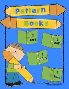 Students create their own, easy to read, pattern books by completing the sentence starters.  They learn sight words, practice their writing skills, and end up with books they can read!Pattern books included:-I see-I can-I like-I haveBooks can be used as a whole class writing activity or pages can be copied and left in a writing center.Easy to use:-Print and copy the pages that are desired (Note that you can choose from a regular font for the pattern page or a dashed font that students can…