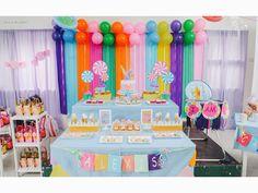 Candyland Themed Dessert Table Balloon Set-up: Hazel Reyes Cake, cupcakes & cookies: Sweet PEA by Genesis Sison-Basiao Cakepops: Praisel Tabefranca-Arangcon Photographer: Pink a boo Studio