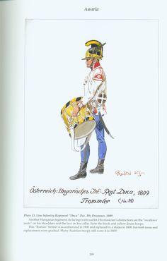 "Austria: Plate 13. Line Infantry Regiment ""Duca"" (No. 39), Drummer, 1809"