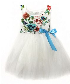 Look at this White Floral Tutu Dress - Infant, Toddler & Girls on #zulily today!