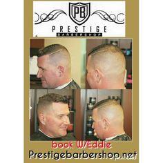 Comb over haircut  at Prestige barbershop. Book your appt now with Eddie. Prestigebarbershop.net