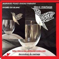 PRIX DEGRESSIF   marque  place   oiseau     paradis  deco   table    mariage    anniversaire  bapteme fete
