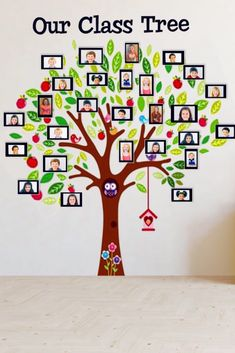 Fun classroom décor idea for elementary, preschool, kindergarten or daycare. Makes a great back to school decoration. Place pictures of your students in the frames to create a class tree to decorate your class.