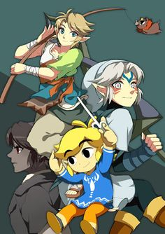 The many different versions of Link.