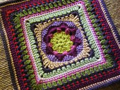 "Pattern Lazy Sunday Afghan Block 9"" (adaptable to larger) by Margaret MacInnis. Free on Ravelry."