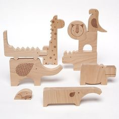 Petit Collage Wooden Toy Safari Jumble