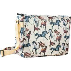 Wildkin Horse Dreams Laptop Messenger Bag, Brown