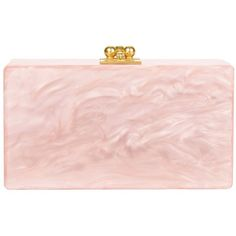 Edie Parker Women's Jean Rose Clutch ($895) ❤ liked on Polyvore featuring bags, handbags, clutches, light pink, light pink purse, kiss lock purse, edie parker, pink handbags and rosette handbag