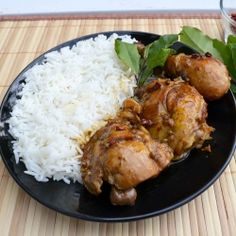Chicken Adobo - Chicken adobo is a popular Filipino dish consisting of chicken slowly cooked in garlic, vinegar, bay leaf, black peppercorns and soy sauce. I have made this many times and it is soooo good!