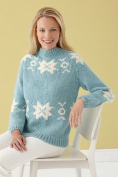 Colorwork Sweater: Experienced; bust 38; Finished Length 23 1/2 in.