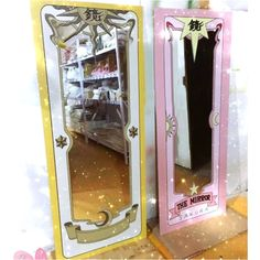 It& time to dress up your mirror and add a little magic to your selfies! These high quality decals are designed to transform your mirror into one of Sakura& Clow Cards, featuring you inside! Look in the mirror and transform into a Magical Girl! Cardcaptor Sakura, One Piece Anime, Sakura Card Captors, Kawaii Room, Mirror Stickers, Gamer Room, Clear Card, Ideias Diy, Anime Merchandise