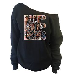 Hip Hop Legends Special Edition Off-The-Shoulder Oversized Slouchy Sweatshirt