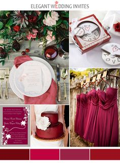 Cranberry Wedding Color Inspirations for Fall 2014 Cranberry Wedding Colors, Fall Wedding Colors, Wedding Color Schemes, Cranberry Color, Summer Wedding, Elegant Wedding Invitations, Wedding Themes, Wedding Decorations, Wedding Ideas